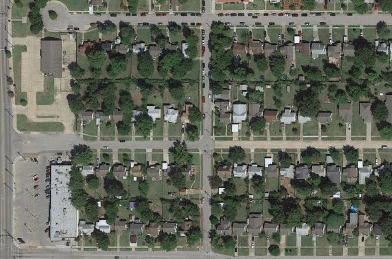 Cul-de-sacs, drive-thrus and surface parking lots are NOT what this neighborhood needs. Photo: Google Maps